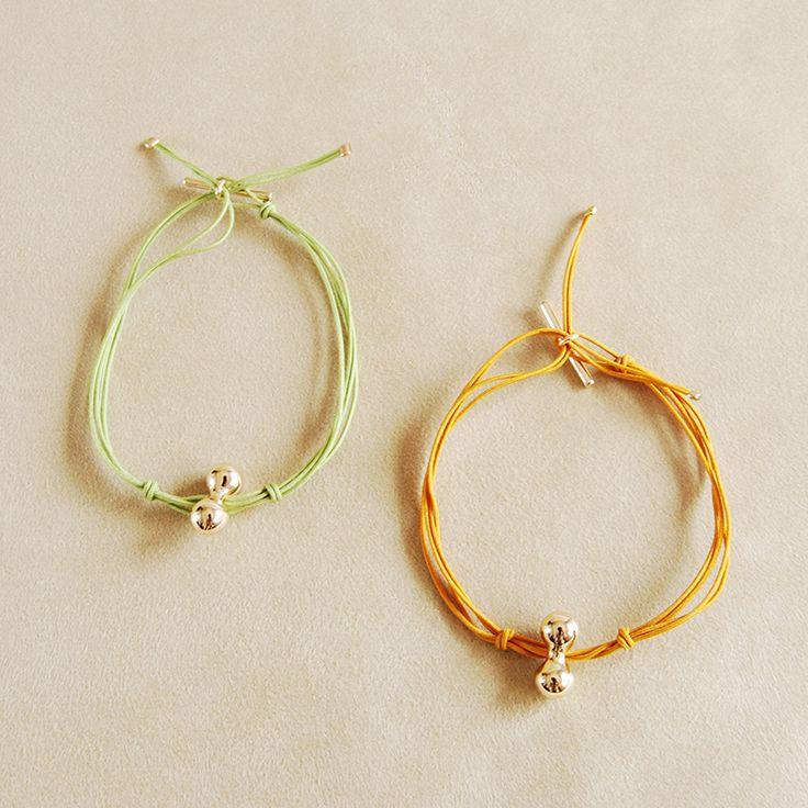 khaki and honey string bracelets Helena Rohner SS14 #helenarohner