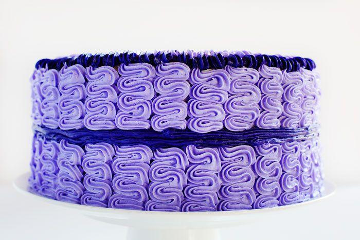 Purple Shell Cake