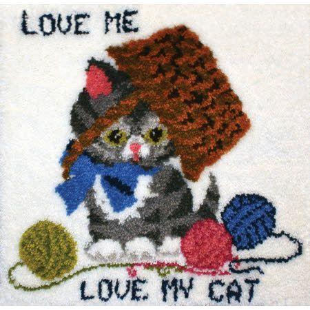 Latch Hook Cat And Kitten Kits