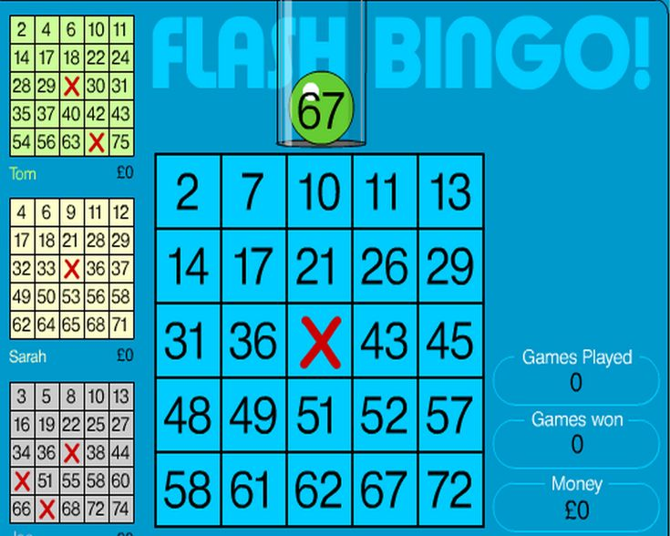free flash bingo