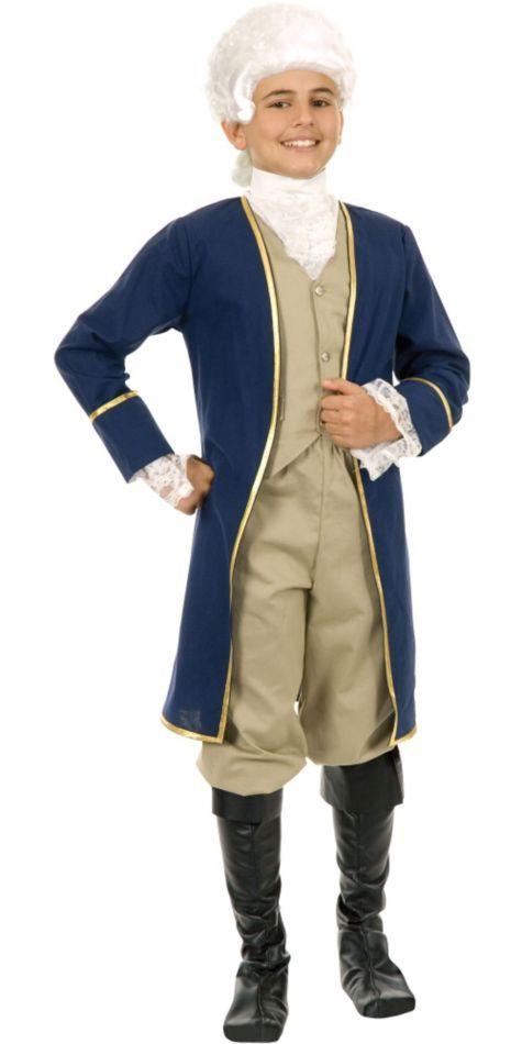 Boys Colonial George Washington Costume - Party City