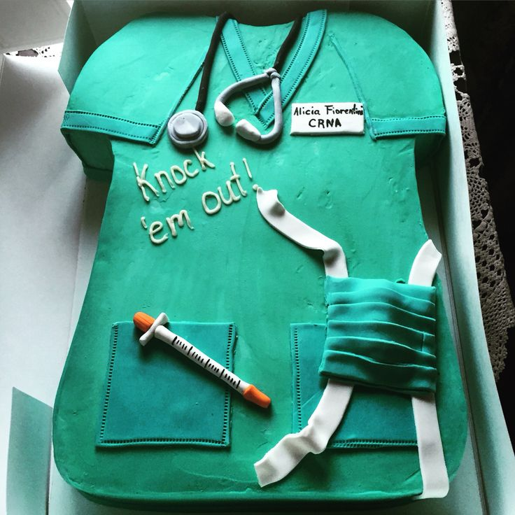 CRNA nurse anesthetist cake