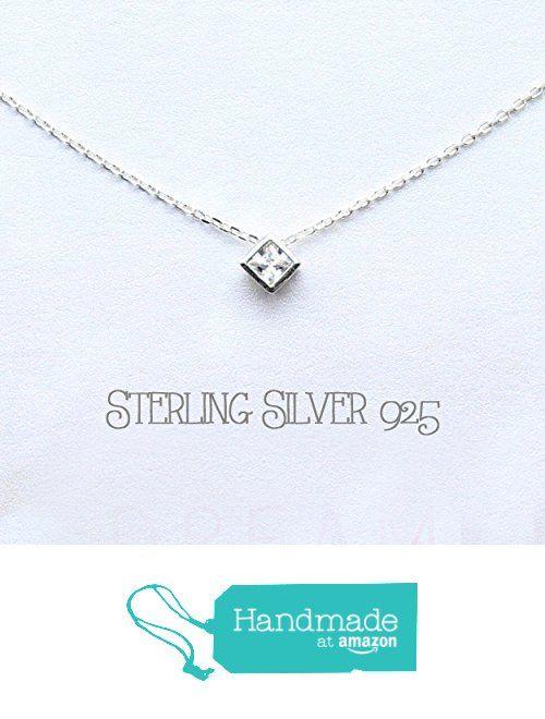 Sterling silver necklace, silver 925 necklace, CZ round bezel necklace, gift for mother, best friends necklace, dainty, tiny, square silver necklace from DIANPEARL https://www.amazon.com/dp/B06XGZYZTT/ref=hnd_sw_r_pi_dp_3sGZybSJ28QZZ #handmadeatamazon