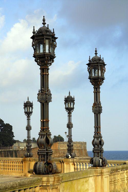 Dockside lamp posts in #Cadiz, Spain