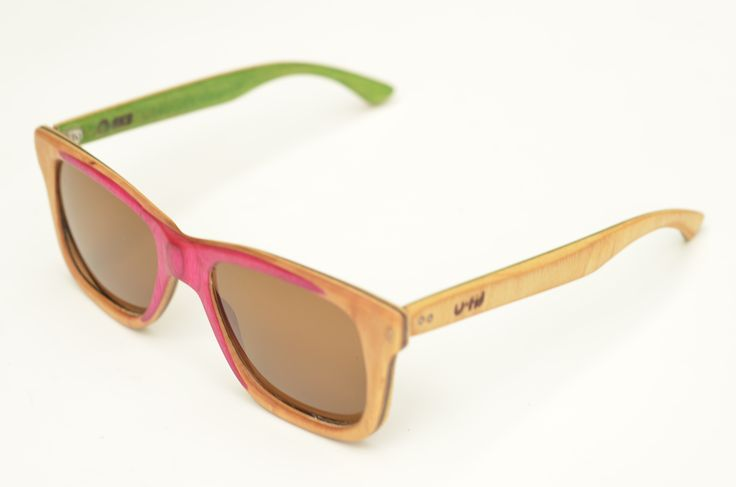 Hand made sunglasses, recycled from a Black label skateboard. by U-FIT/ARGENTINA