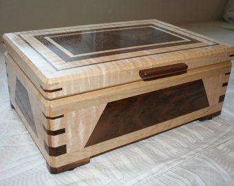 Wood Jewelry Box Wooden Jewelry Box от PaulsFineWoodworking