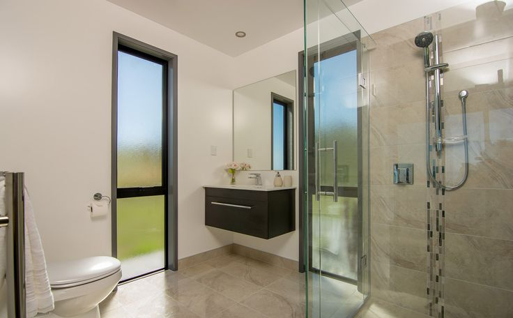 Add interest to your bathroom with tiled surfaces.