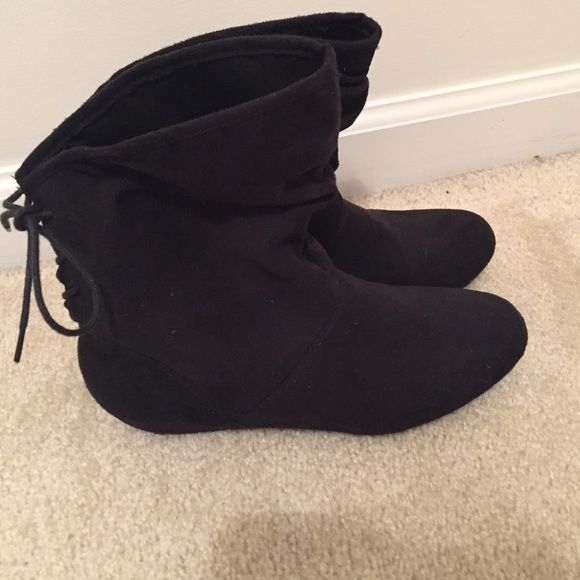 Charlotte Russe black ankle booties About 6 inches tall. Great for winter AND summer outfits! Charlotte Russe Shoes Ankle Boots & Booties