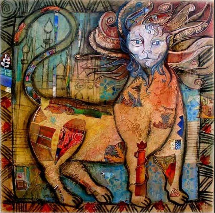 Didier Delamonica 1950 | French Mystical Fantasy painter