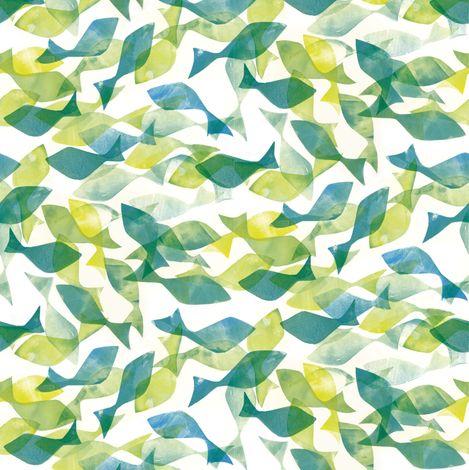 Motif poisson pour tissu