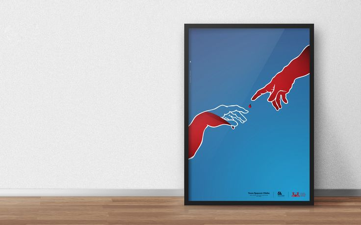 """Poster / Participation in the Greek graphic designer's association, """"Creative waves"""" initiative on social design.This month's specific project aims to promote blood donation, in collaboration with """"blood bonds"""" blood donators club, in Argolida, Greece.…"""