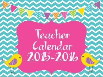 FREE TpT: This is a July 2015 to June 2016.