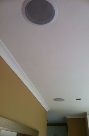 How to Mount Ceiling Speakers and Wirelessly Stream Music to Any Room in Your Home  @Heather Creswell Creswell Creswell Creswell Creswell Creswell