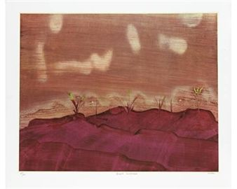 Desert Landscape, and 3 more works By Sidney Nolan