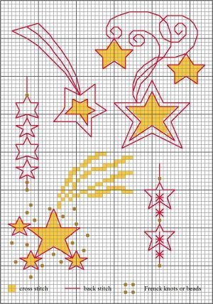 Stars for Christmas, designed by Lesley Teare, from her blog..