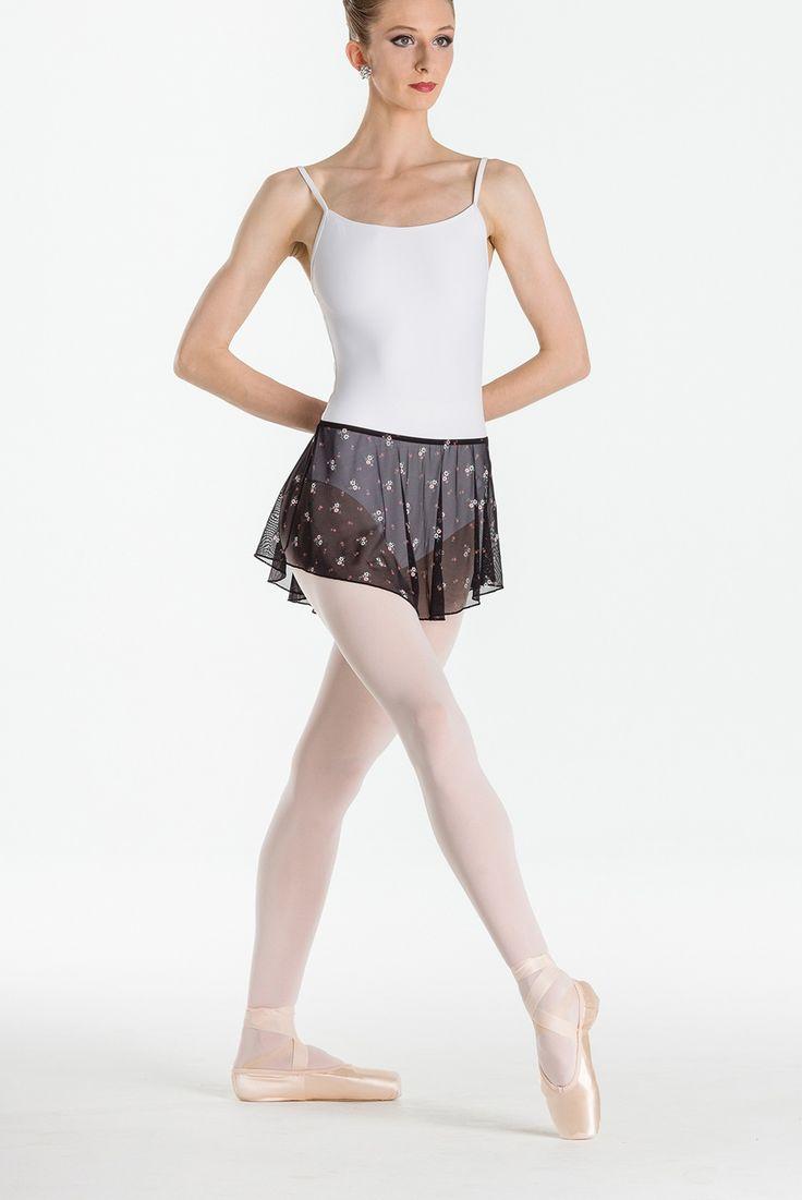 Wear Moi mesh skirt with flower print Spring 2017