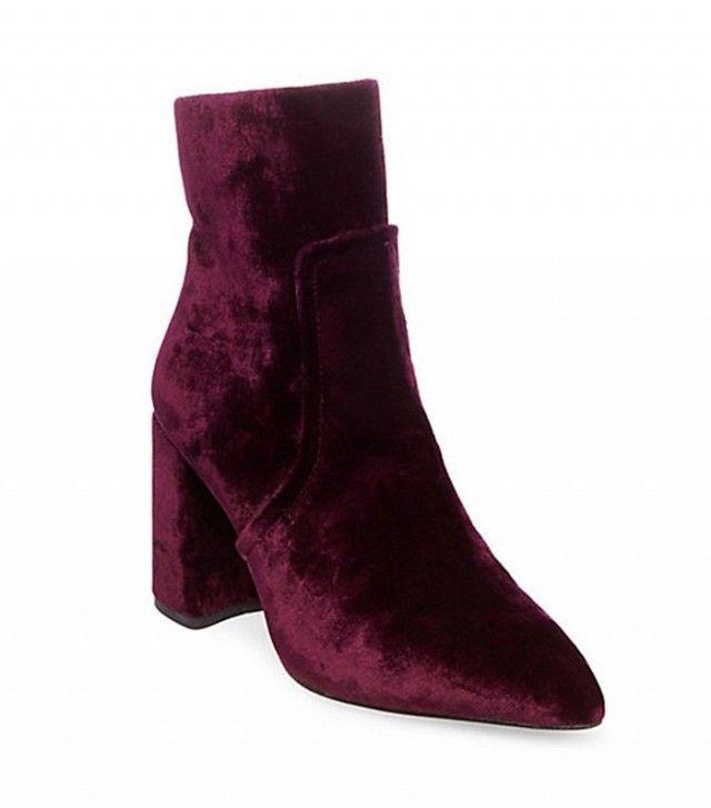 Steve Madden Jaque Boots in Burgundy Velvet