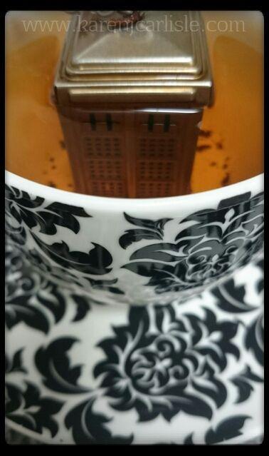 Day 12:TARDIS in a teacup Photo copyright 2016 Karen Carlisle.