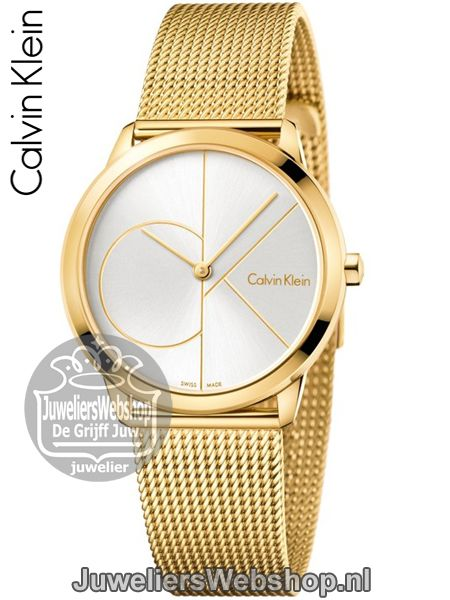 Calvin Klein Minimal MIDSIZE K3M22526 Horloge Dames Goud. Collectie 2017. #calvinklein #ckwatch #horloges #juwelierswebshop