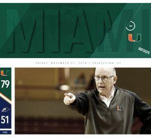 NCAA: 5ème victoire de rang pour Miami Hurricanes et Manu Lecomte