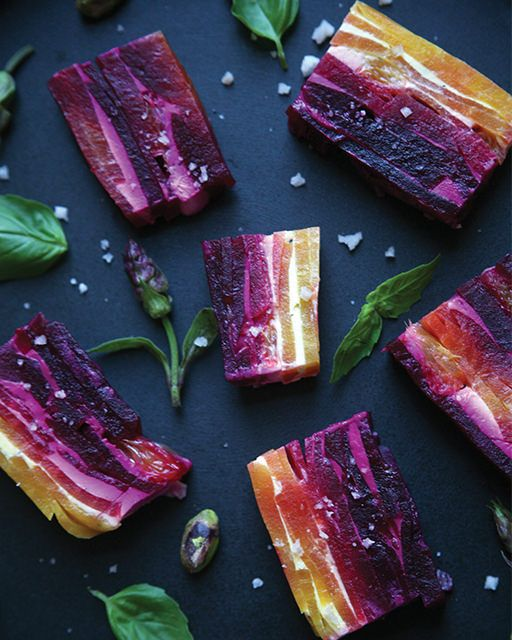 Beet & Goat Cheese Terrine #SweetPaul