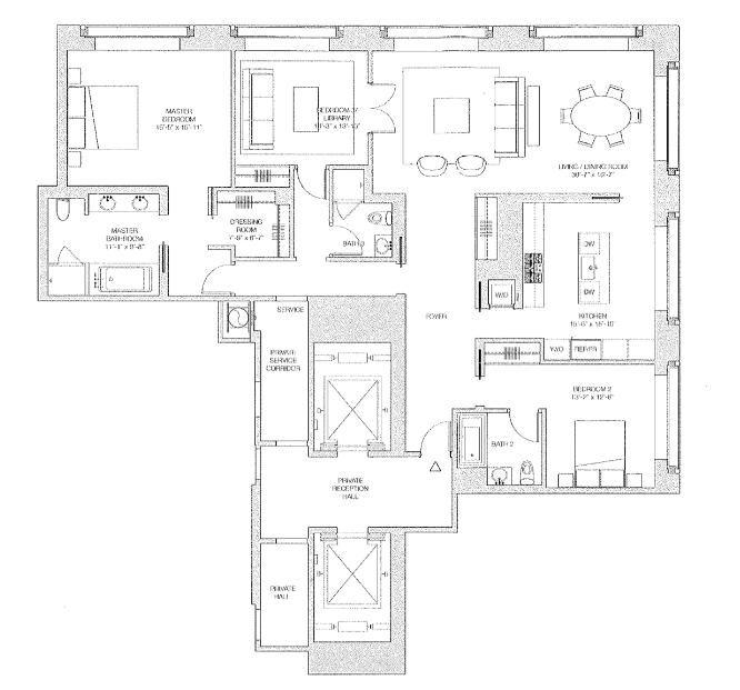 432 park ave floor plans gurus floor for 10 madison square west floor plans
