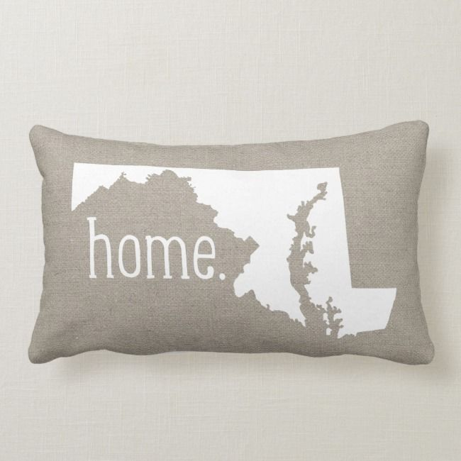 Rustic Maryland Home State Throw Pillow Zazzle Com State Throw Pillows Pillows Throw Pillows