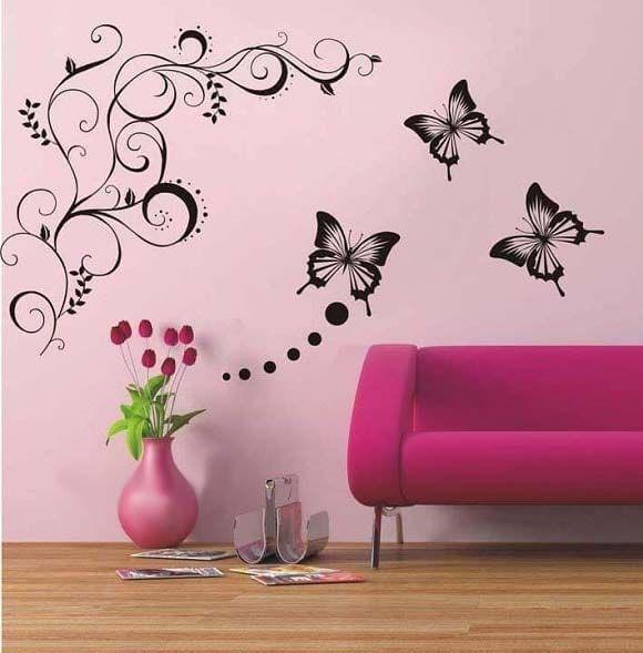 صور أشكال وأفكار رائعة لتزيين جدران المنزل Girls Wall Art Wall Stencil Furniture