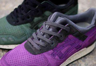 """ASICS Gel Lyte III """"After Hours"""" Pack Tema Perayaan Akhir Malam dengan 2 Colorways pilihan. #asiscs #gellyte #sneakers #purple #sepatu #running #footwear"""