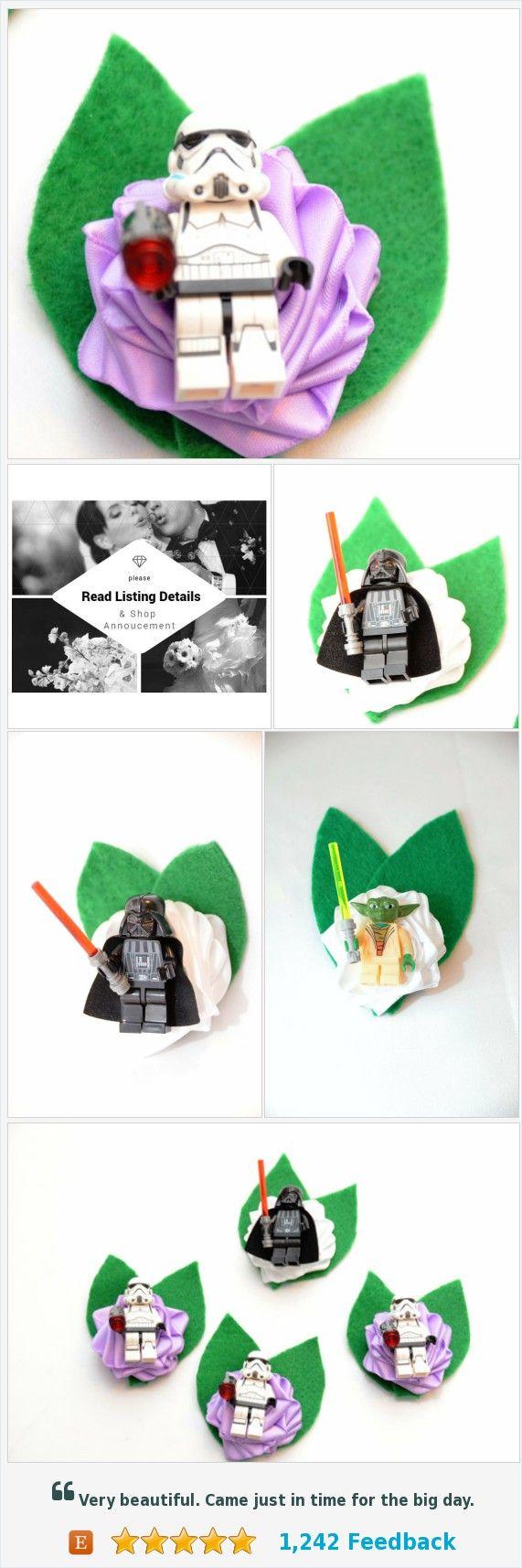 Wedding Geek Nerd Brick Style Boutonniere ~ Star Wars ~ Darth Vader ~ Luke Skywalker ~ Han Solo ~ Yoda ~ Sith Lords https://www.etsy.com/DivinityBraid/listing/486184518/wedding-geek-nerd-brick-style?ref=shop_home_active_2
