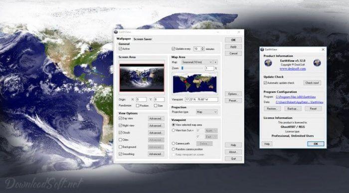 Download Earthview Free Desktop Background Screensaver Photo Editing Software Weather Data Screen Savers