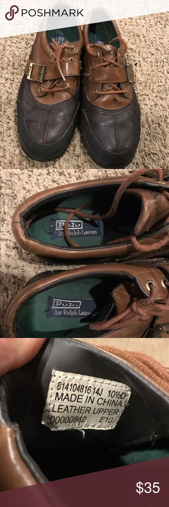 Polo by Ralph Lauren Men shoes size 10 1/2D used still good condition Polo by Ralph Lauren Shoes Boots