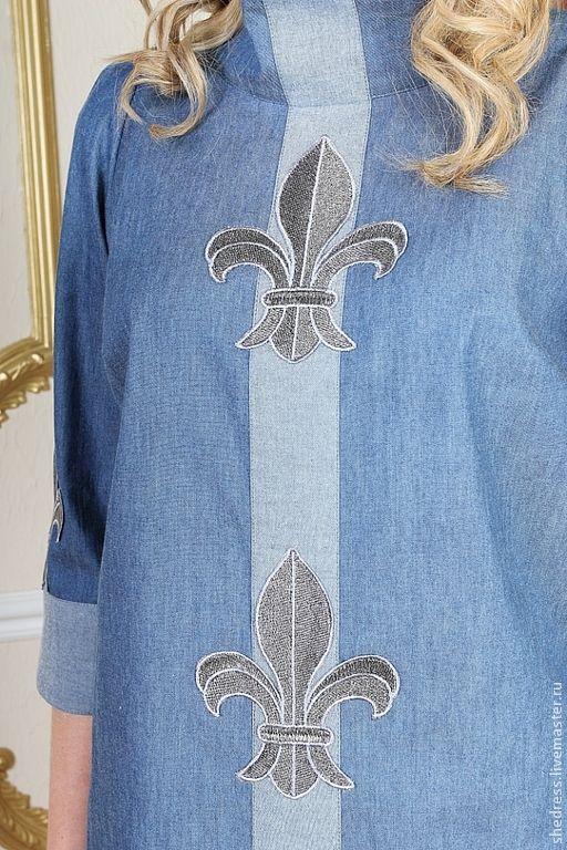 """Джинсовое платье """"Флер-де-лис"""". Handmade."""