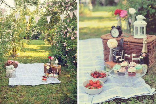 vintage picnic engagement  by http://landvphotography.it