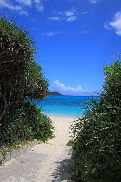 Aharen Beach, Okinawa. So Tom can scuba there again!