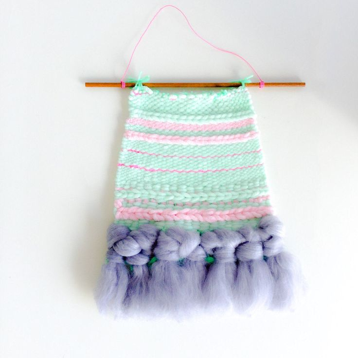 Nursery decor weaving wall hanging https://www.etsy.com/listing/517597637/nursery-art-weaving-wall-hanging-pastel