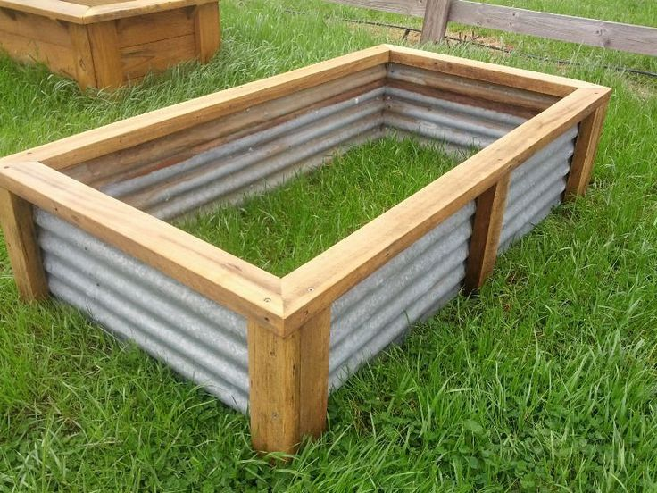 Planter boxes for vegetables raised vegetable garden bed planter box recycled materials for Best material for raised garden beds