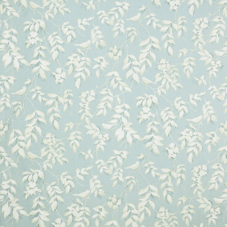 Pretty Laura Ashley floral fabric in duck egg blue with white sprigs, very similar to one I was lucky enough to find in a charity shop for a project to updo a classic chair.