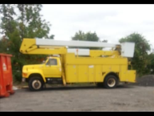 1995 Ford F8000 Bucket Truck For Sale  1995 Ford F 8000 truck. 8.3 Cummins engine Allison auto alum. utility body. 55 foot lift all. Double ...