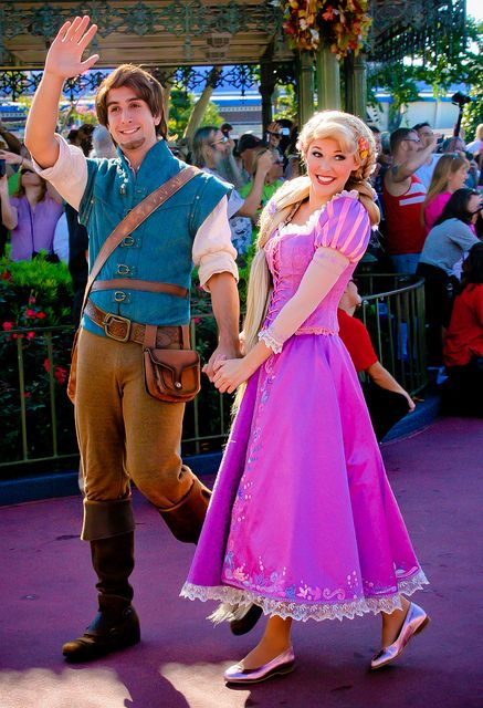 Rapunzel & Eugene - love her shoes! (normally barefoot)