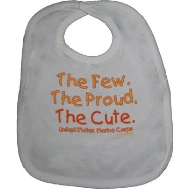 The Cute Baby Bib | Kids | Sgt Grit - Marine Corps Store