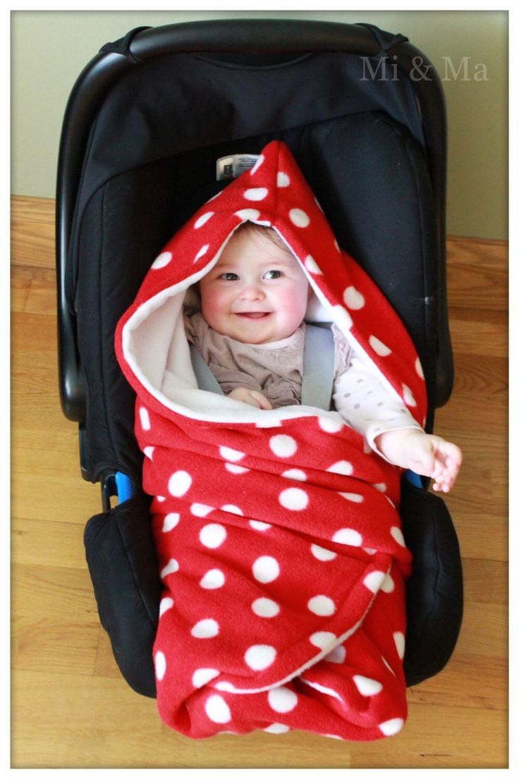 Hooded Car Seat Blanket Car Seat Blanket Red With White
