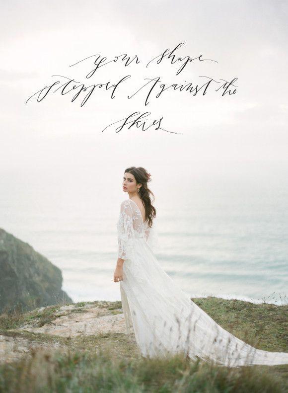 Best at Dusk – Organic Coastal Wedding Ideas. Fine Art Film Photography by Taylor & Porter. Gown by Rue De Seine.