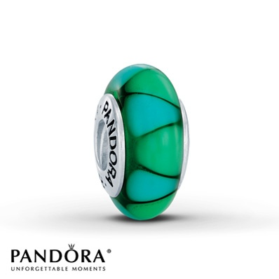 Jared - Pandora Charm Green Glass Sterling Silver