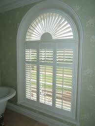 Image result for plantation shutters arched window