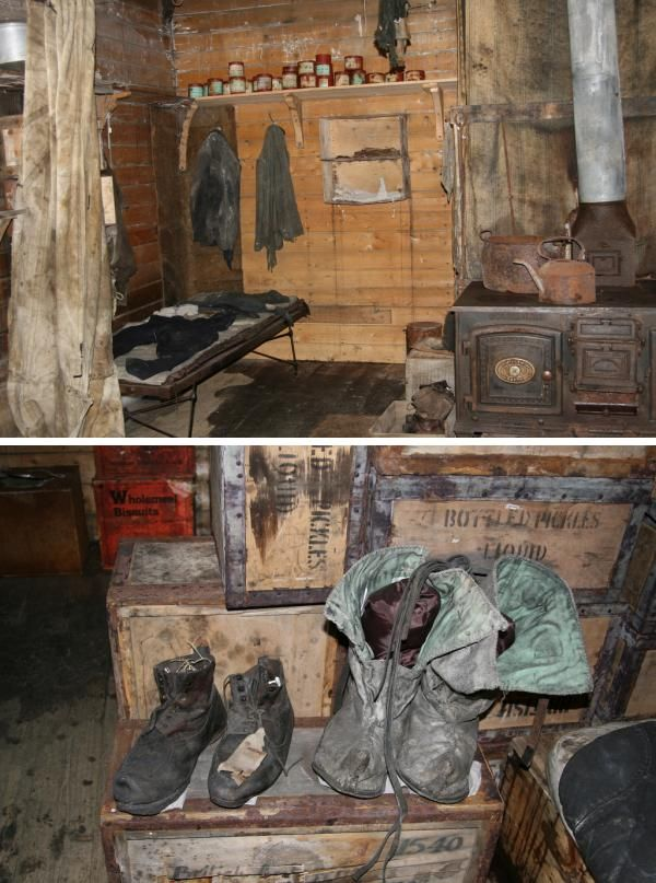 The hut was used from 1915-1917 by several of Ernest Shackleton's Ross Sea party who had become marooned.  In January 1917, after the survivors were rescued, the hut was vacated and remained untouched until 1956 when U.S. expeditioners dug it out of the ice.  The hut and its contents are remarkably well preserved today.