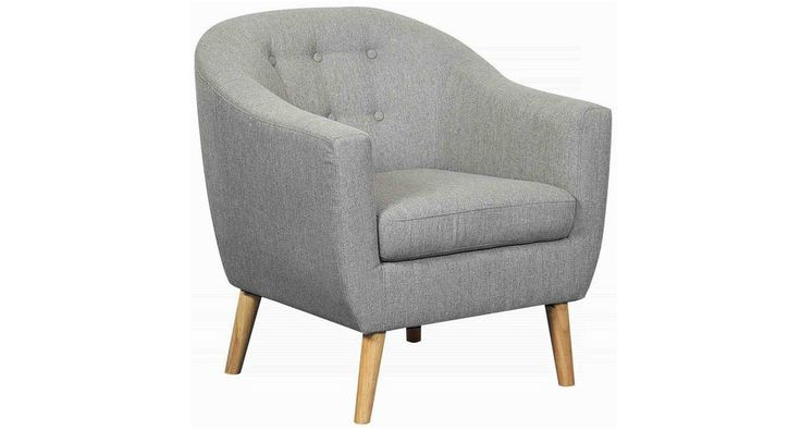 The Copenhagen Chair has solid timber frame and legs with spring system under seat cushion providing long lasting comfort. Upholstered in quality fabric, this chair will make a statement in any room #cosychair