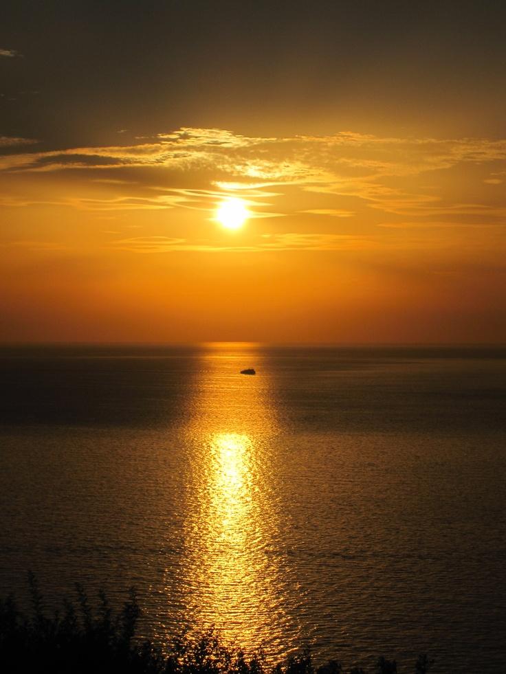 Sunset at Cala Piccola, Monte Argentario, #maremma, #tuscany, #italy.  Shot by Eugenia Cerulli, August 2012