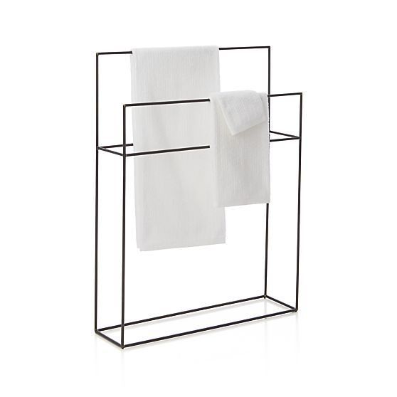 Jackson Floor Stand in Bath Accessories | Crate and Barrel