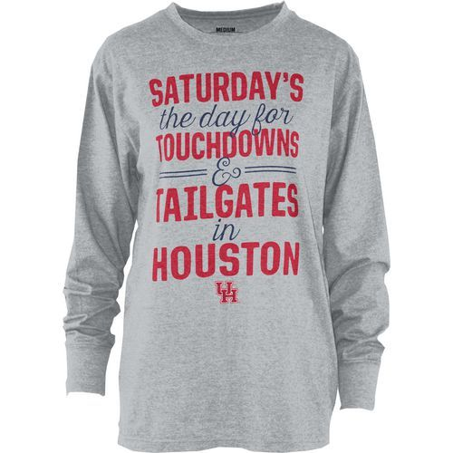 Three Squared Juniors' University of Houston Touchdowns and Tailgates T- shirt (Grey, Size XX Large) - NCAA Licensed Product, NCAA Women's at Academ.